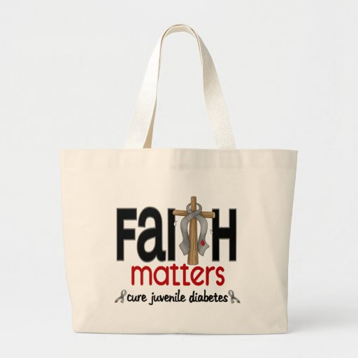 Juvenile Diabetes Faith Matters Cross 1 Bags