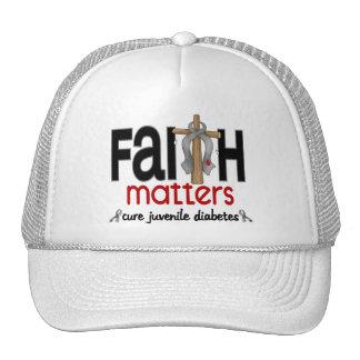 Juvenile Diabetes Faith Matters Cross 1 Trucker Hats