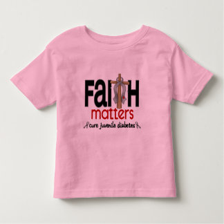 Juvenile Diabetes Faith Matters Cross 1 Toddler T-shirt