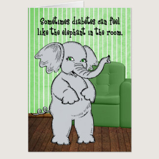 Juvenile Diabetes Get Well for Kids - Elephant Card