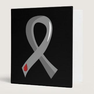 Juvenile Diabetes Grey Ribbon 3 Binder