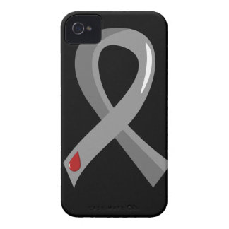Juvenile Diabetes Grey Ribbon 3 iPhone 4 Covers