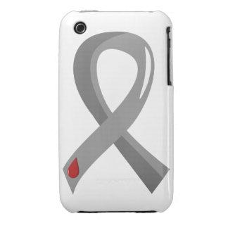 Juvenile Diabetes Grey Ribbon 3 iPhone 3 Case-Mate Case
