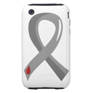 Juvenile Diabetes Grey Ribbon 3 Tough iPhone 3 Cover
