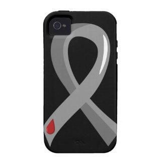 Juvenile Diabetes Grey Ribbon 3 iPhone 4 Case
