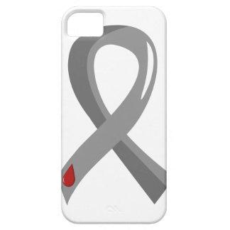 Juvenile Diabetes Grey Ribbon 3 iPhone 5 Case