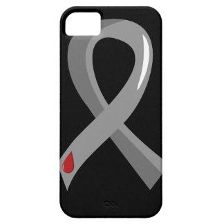 Juvenile Diabetes Grey Ribbon 3 iPhone 5 Cases