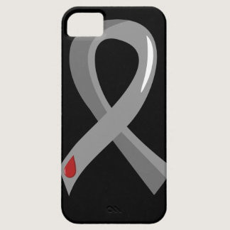 Juvenile Diabetes Grey Ribbon 3 iPhone SE/5/5s Case