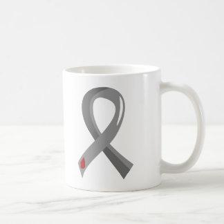Juvenile Diabetes Grey Ribbon 3 Classic White Coffee Mug