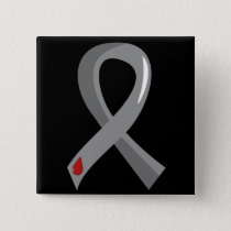 Juvenile Diabetes Grey Ribbon 3 Pinback Button