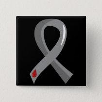 Juvenile Diabetes Grey Ribbon 3 Pinback Button