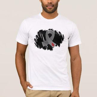 Juvenile Diabetes Grey Ribbon With Scribble T-Shirt