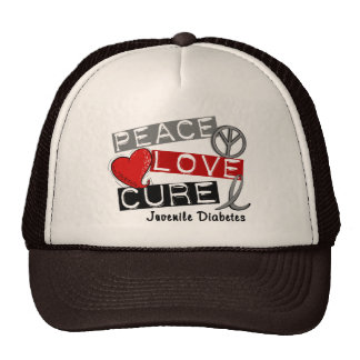 JUVENILE DIABETES TRUCKER HATS