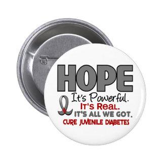 Juvenile Diabetes HOPE 1 Button