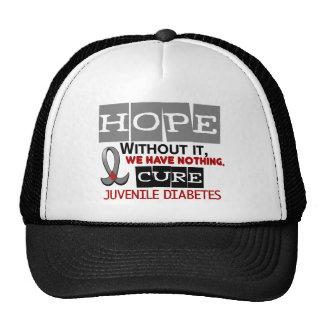 Juvenile Diabetes HOPE 2 Mesh Hats