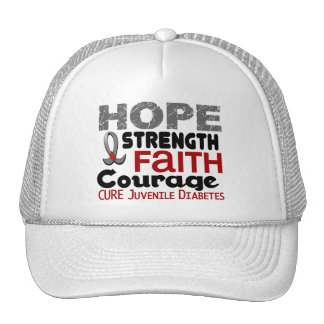 Juvenile Diabetes HOPE 3 Hats