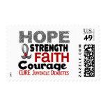 Juvenile Diabetes HOPE 3 Stamps