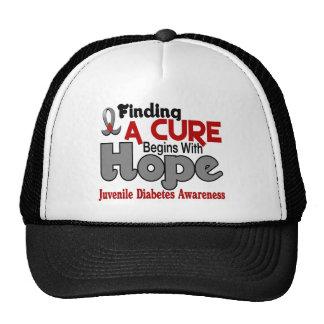 Juvenile Diabetes HOPE 5 Mesh Hats