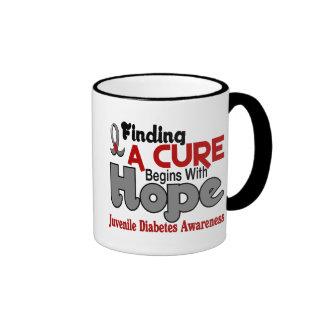Juvenile Diabetes HOPE 5 Ringer Coffee Mug
