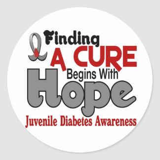 Juvenile Diabetes HOPE 5 Classic Round Sticker