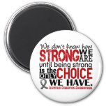 Juvenile Diabetes How Strong We Are Refrigerator Magnet