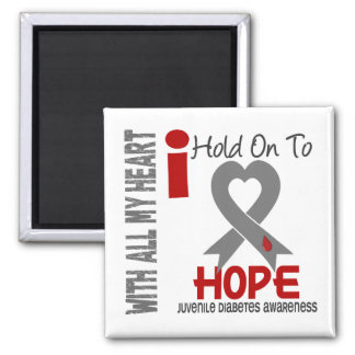 Juvenile Diabetes I Hold On To Hope 2 Inch Square Magnet