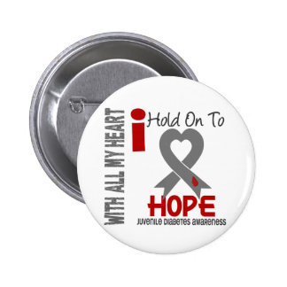 Juvenile Diabetes I Hold On To Hope Pinback Button