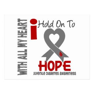 Juvenile Diabetes I Hold On To Hope Postcard