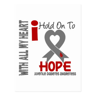Juvenile Diabetes I Hold On To Hope Postcard