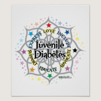 Juvenile Diabetes Lotus Poster