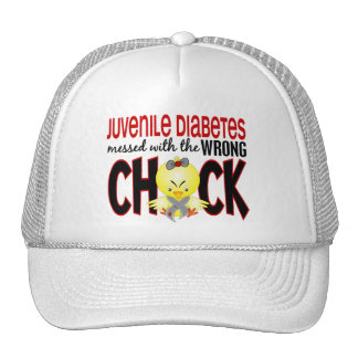 Juvenile Diabetes Messed With The Wrong Chick Mesh Hats
