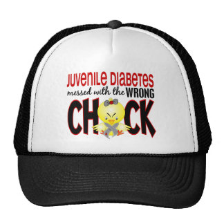 Juvenile Diabetes Messed With The Wrong Chick Mesh Hat