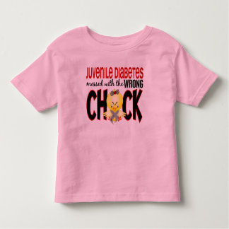 Juvenile Diabetes Messed With The Wrong Chick Toddler T-shirt