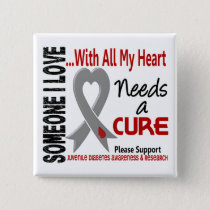 Juvenile Diabetes Needs A Cure 3 Button