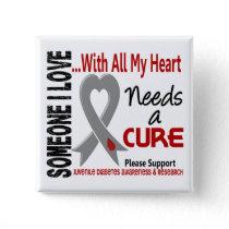 Juvenile Diabetes Needs A Cure 3 Button