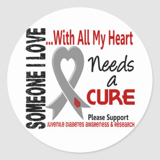 Juvenile Diabetes Needs A Cure 3 Classic Round Sticker