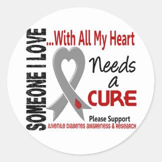 Juvenile Diabetes Needs A Cure 3 Classic Round Sticker