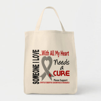 Juvenile Diabetes Needs A Cure 3 Grocery Tote Bag