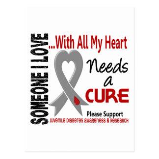 Juvenile Diabetes Needs A Cure 3 Postcard