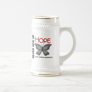 Juvenile Diabetes Never Give Up Hope Butterfly 4.1 18 Oz Beer Stein