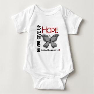 Juvenile Diabetes Never Give Up Hope Butterfly 4.1 Baby Bodysuit