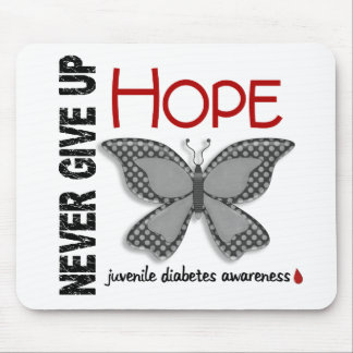 Juvenile Diabetes Never Give Up Hope Butterfly 4.1 Mouse Pads