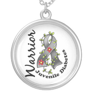 Juvenile Diabetes Warrior 15 Silver Plated Necklace