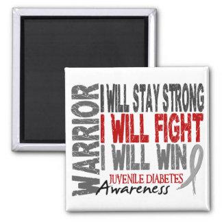 Juvenile Diabetes Warrior 2 Inch Square Magnet