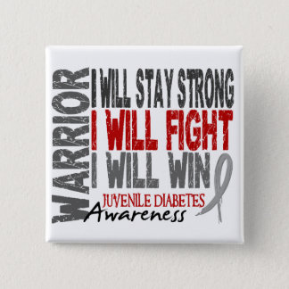 Juvenile Diabetes Warrior Pinback Button