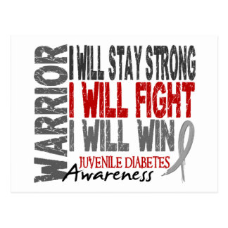 Juvenile Diabetes Warrior Postcard