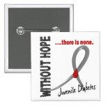 Juvenile Diabetes Without Hope 1 Buttons