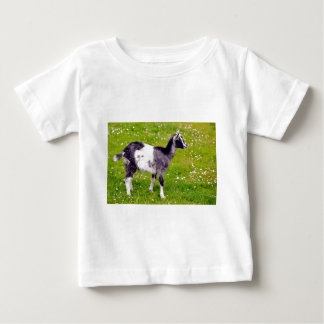 Juvenile goat on grass baby T-Shirt