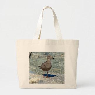 Juvenile Great Black-Backed Gull Large Tote Bag