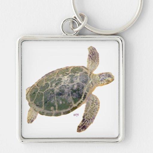 Juvenile Green Sea Turtle Keychain